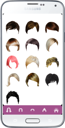 HairStyle Mirror - Android app for simulating hairstyles in real-time